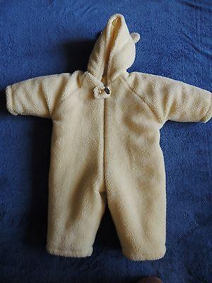 DISNEY STORE Winnie Pooh SNOW SUIT BUNTING Hood 12M Costume Winter Warn Fleece - Bunting Costumes