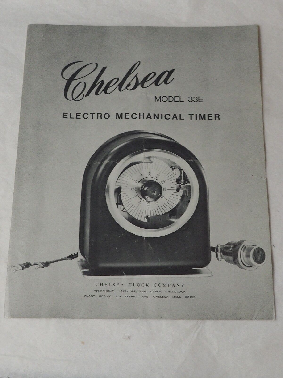 CHELSEA Model 33E Electro Mechanical TImer Operation Booklet circa 1940