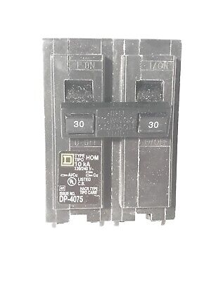 30-amp Plug-on Circuit Breaker Dp-4075 Schneider Square D Hom 120240v - New