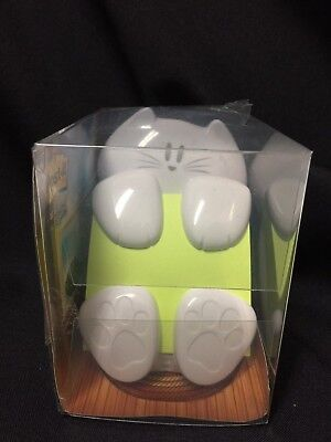 Nwt Post-it 3x3 Refillable White Cat Pop-up Note Despenser So Cute Fs