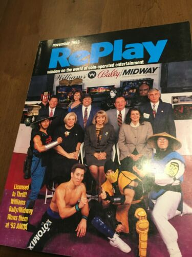 Replay November 1993 Tales from the Crypt Pinball Cyber Sled Raiden 2