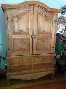 Teak Armoire Storage Cupboard TV Cabinet Runaway Bay Gold Coast North Preview