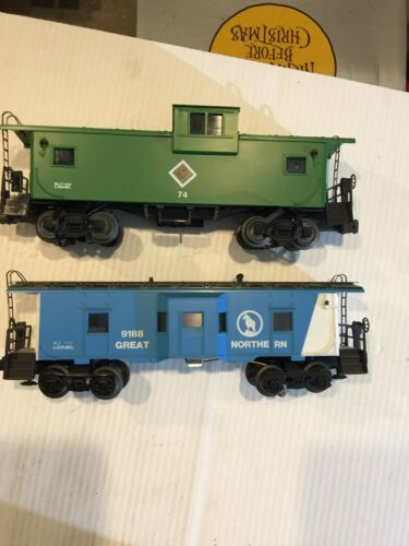 Lionel O Gauge Chicago and Illinois Midland #74 and GN 6-9188 Lit Cabooses