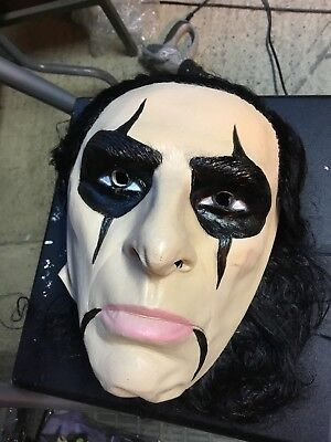 Alice Cooper  80s Full Head Mask Latex MASK BY CESAR 2001 Rare For - Alice Cooper Halloween Mask