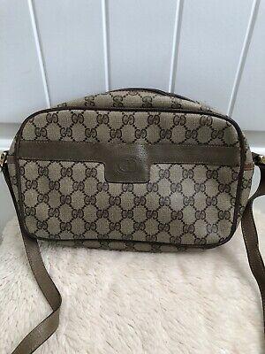 Vintage, GUCCI,GG Monogram Crossbody/Bag/Purse/Handbag Brown