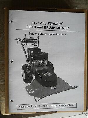 Dr All-terrain Field Brush Mower Maintenance Repair Service Operating Manual