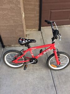 Kids red bike