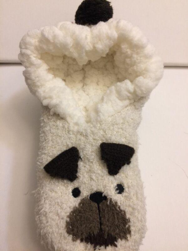Pug Sherpa Lined Lounge Sock/Slippers