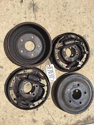 "EARLY FORD 9"" REAR BIG BEARING BB 11"" X 1.75 INCH DRUM BRAKE W/ DRUM SET LOADED"