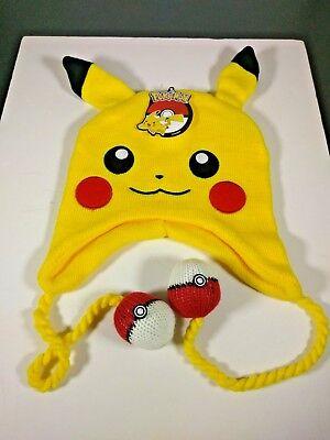 Pokemon Pikachu Beanie Big Face Hat Laplander Loot Crate Pika Pika Brand - Pokemon Hat