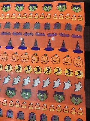 Halloween scarf w/ ghosts goblins jack o'lanterns tombstones bats witches hats  (Halloween Ghosts Goblins)