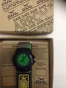 Gul ARROW  GREEN Velcro Strap Wrist Watch Surf Skate Water Resistant