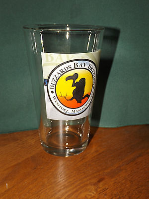 Massachusets Bay - BUZZARDS BAY BREWERY PINT BEER GLASS, WESTPORT MASSACHUSETS