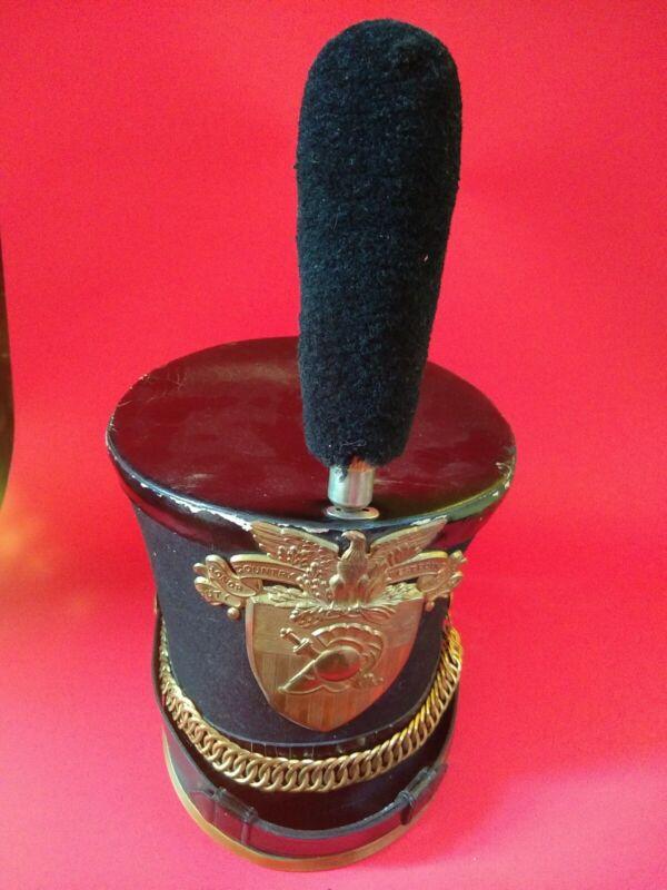 USMA West Point Cadet Army Military Tar Bucket Shako Plume Parade Hat cap 1900s