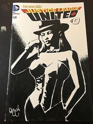 ZATANNA JLU JUSTICE LEAGUE UNITED #0 Sketch Cover Original Art CHRIS MCJUNKIN