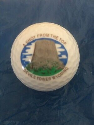 New Rare Wilson Devil's Tower Golf Ball Souvenir Wyoming WY