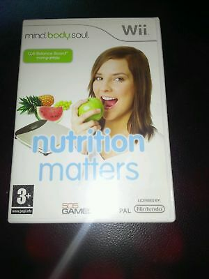 Used, Nutrition Matters Nintendo Wii game  3+ rating for sale  Shipping to Nigeria