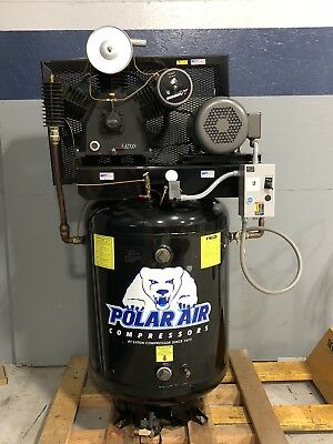 2009 Eaton Polar Air Compressor With 10 Hp Motor And 100 Gallon Capacity Tank