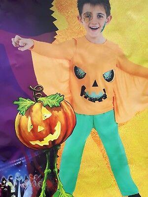 Kürbis Kostüm für Kinder Kürbiskostüm Halloween Fasching Pumpkin 2-tlg 129244013