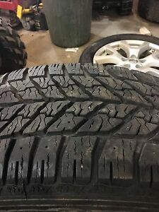 235/55/18 goodyear ultragrip winter tires 85% remaining