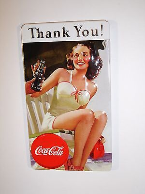 """Coca Cola """"Thank You"""" Embossed Magnet by Ande Rooney"""