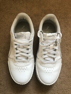Puma Carina trainers, White leather, size 5.5