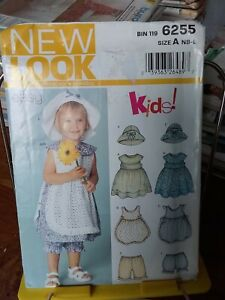 Oop-New-Look-Easy-Kids-6255-infants-sundress-pinafore-bloomers-sz-nb-24-lb-NEW