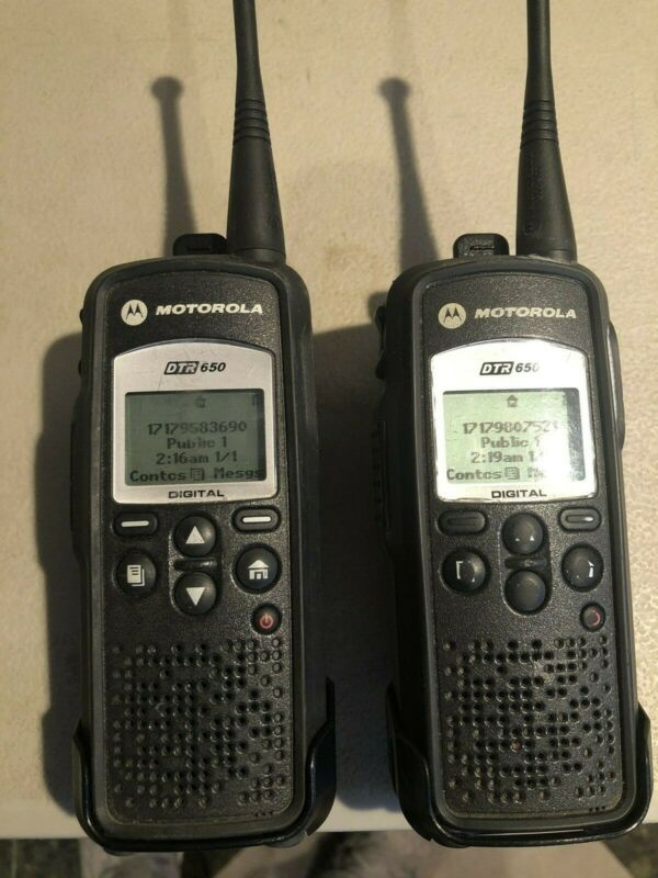 2 Motorola DTR650 Digital Portables with Accessories
