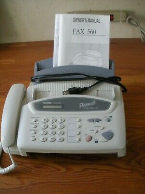 Brother Fax-560 Personal Plain Paper Fax Machine Phone Copier With Manual