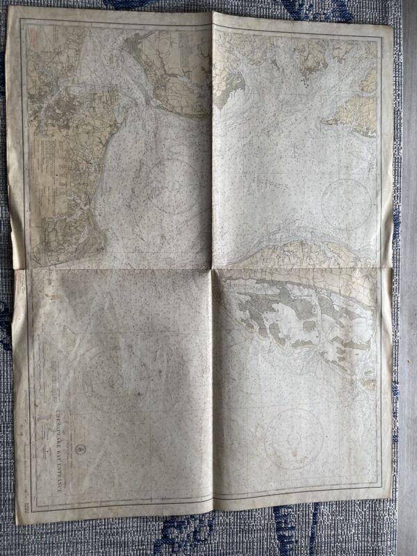 Orig. Nautical Chart Map Chesapeake Bay Entrance 1222 Issue Date 1933