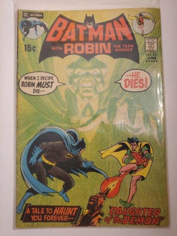 Batman # 232 1st appearance of Ra