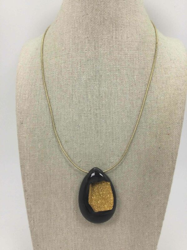 925 Silver Gold Plated Tear Drop Woven Necklace