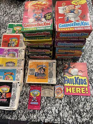 Vintage Original Topps Garbage Pail Kids Empty Boxes Series 3-9 Plus More GPK OS