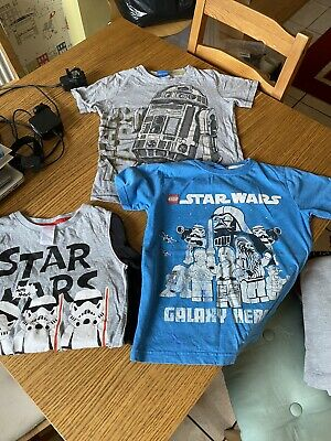 boys star wars t shirt Bundle 6-8 Years