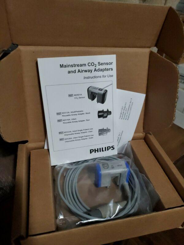 New Philips M2501A Mainstream CO2 sensor And Airway adapters