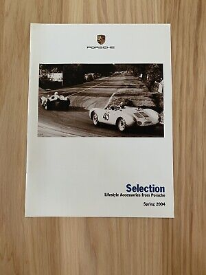 """Porsche Showroom And Parts Brochure Spring 04' """"Selection Lifestyle Accessories"""""""