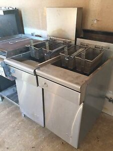 Two Quest Commercial Deep Fryers
