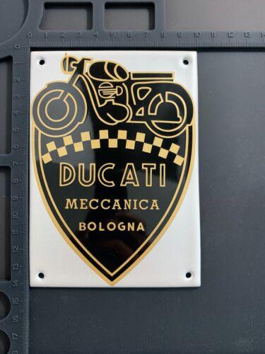 Ducati Meccanica Bologna Enamel Metal Garage Home Shop Plaque Plate Sign Tile