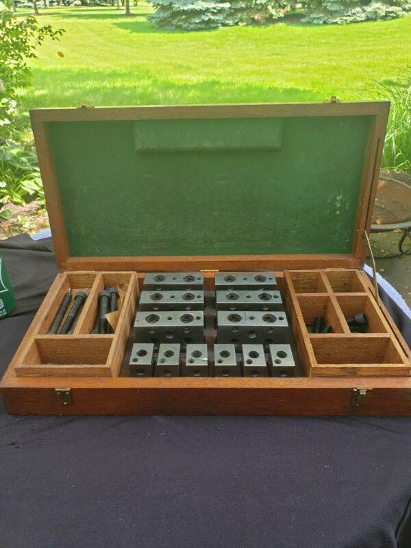 MOORE TOOLS Parallel Set-Up Blocks in Mahogany Box