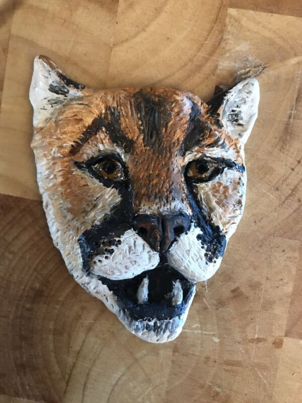 Mountain Lion Medallion Puma Original By Holly Lenz For Sierra Safari Zoo