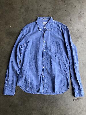 Gant Rugger Selvage Madras Shirt sz Medium Blue