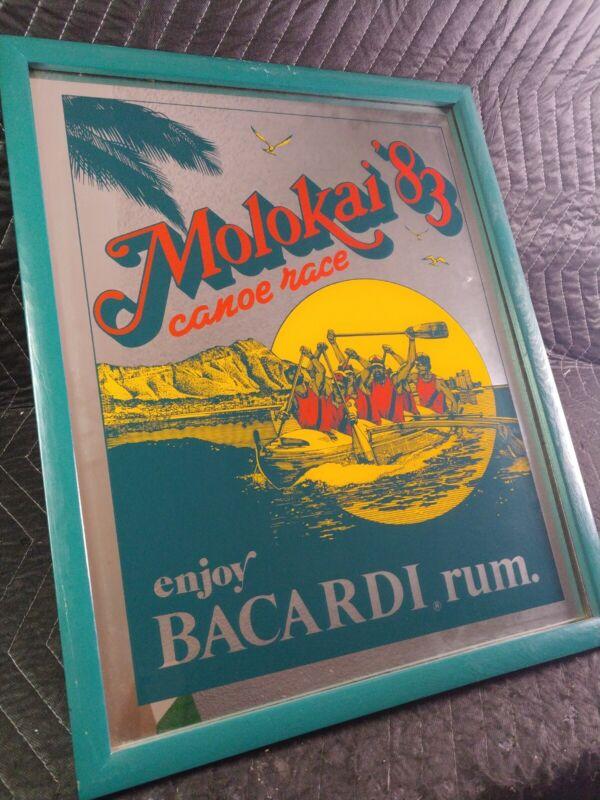 Bacardi Rum Mirror 1983 Molokai Canoe Race