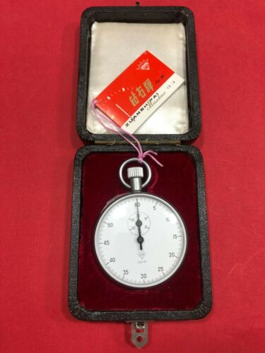 DIAMOND Stopwatch 506 Mechanical 30/60 WatchTimer Chromed Professional old stock