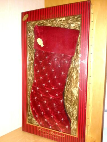 Waterford Holiday Heirloom Lmtd Numbered Keepsake Christmas Stocking Red Sparkle