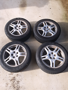 """2002 Subaru Impreza RS 16"""" wheels with tires Southport Gold Coast City Preview"""