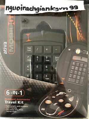 ATIVA MOBIL-IT NOTEBOOK TRAVEL KIT NIB AN ESSENCE 4 A REMOTE OFFICE / ON THE GO Mobile Travel Kit
