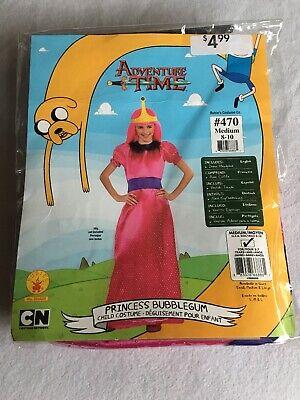 NEW Adventure Time Princess Bubblegum Halloween Costume Medium - Bubble Gum Halloween Kostüm