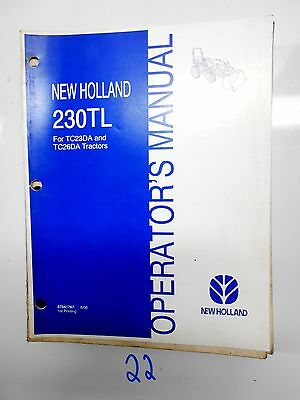New Holland Tc23da Tc26da Tractor 230tl Loader Operators Owners Manual