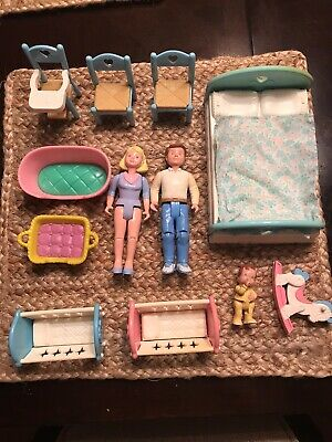 Lot of Fisher Price Loving Family Dollhouse Items (1993)