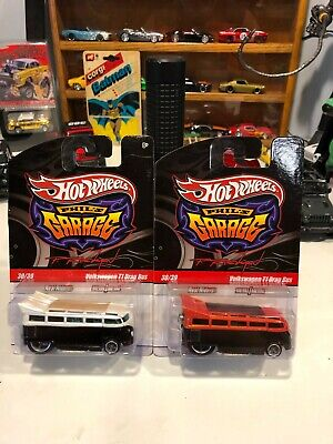 HOT WHEELS PHIL'S GARAGE VOLKSWAGEN  DRAG BUS WITH REAL RIDERS TIRES